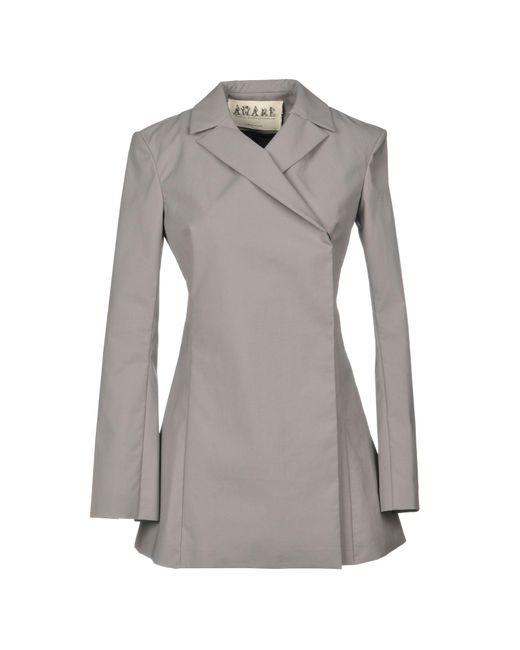 Awake - Gray Overcoat - Lyst
