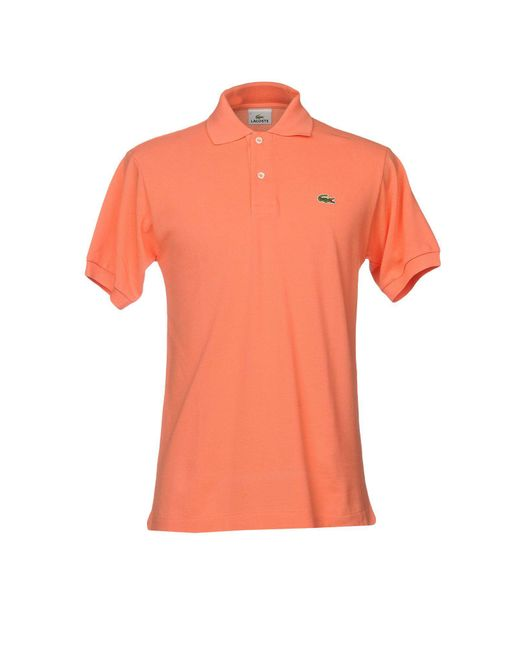 Lacoste Polo Shirt In Pink For Men Lyst