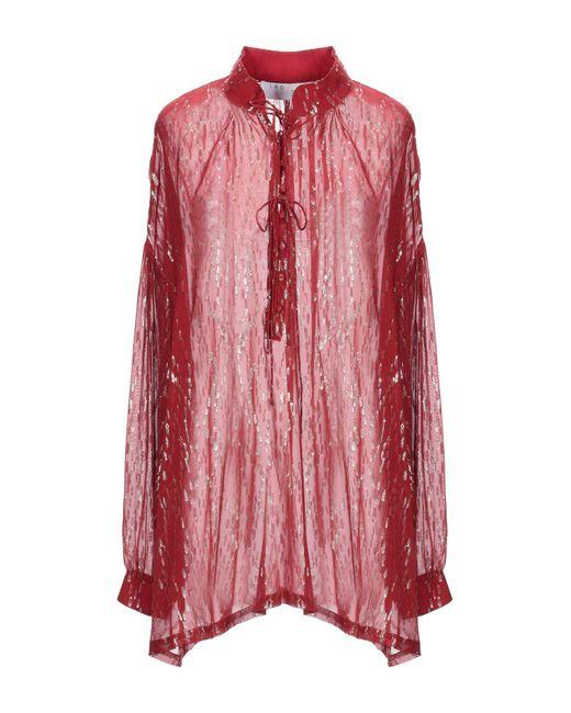 IRO Blusa de mujer de color rosa HLFzB