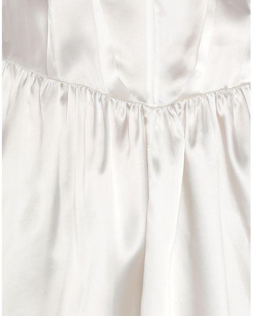 Robe aux genoux MM6 by Maison Martin Margiela en coloris White