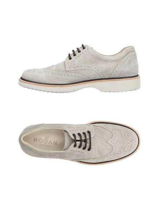 Hogan - Gray Lace-up Shoe for Men - Lyst
