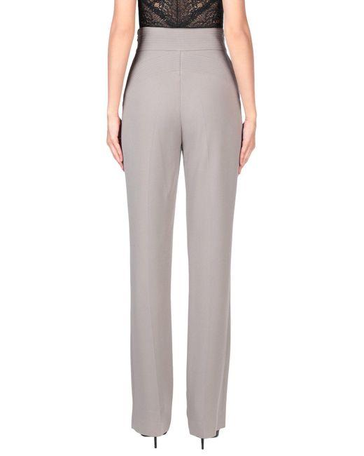 Elisabetta Franchi Pantalon femme de coloris gris