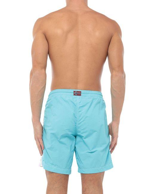 Napapijri Blue Swim Trunks for men