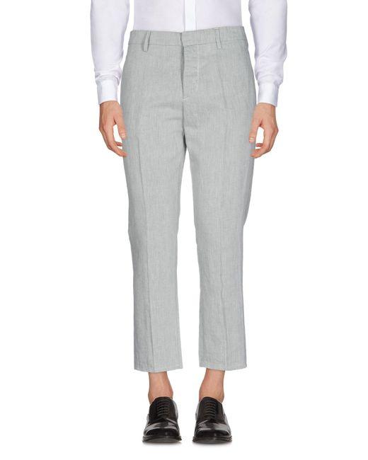 Dondup Gray Casual Pants for men