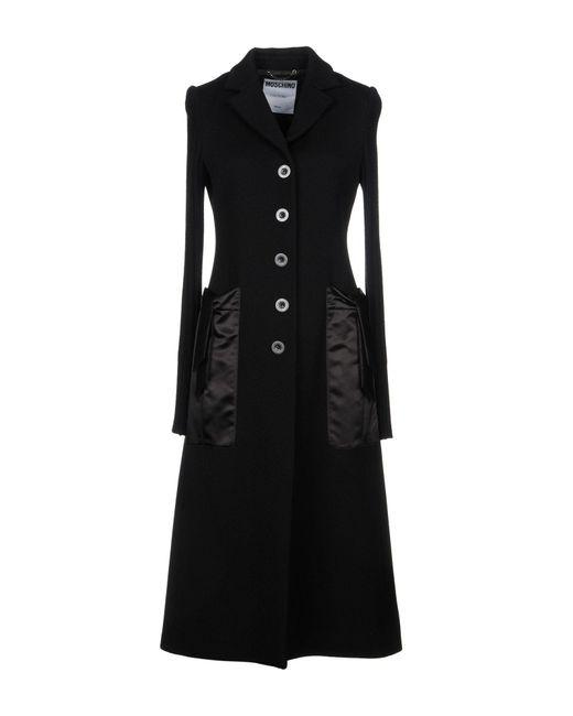 Moschino - Black Overcoats - Lyst
