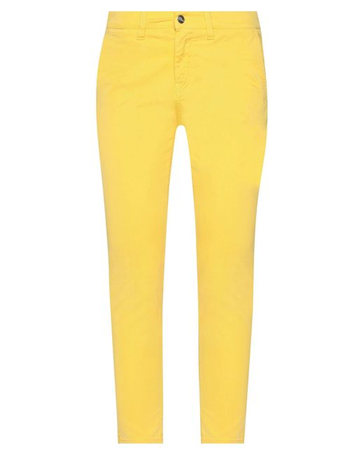 2W2M Yellow Casual Trouser