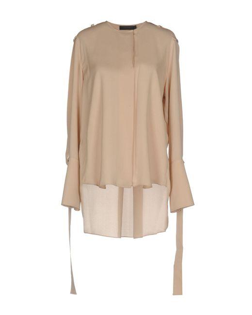 CALVIN KLEIN 205W39NYC Camisa de mujer de color neutro qdGn5