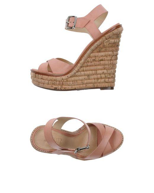 Schutz | Pink Sandals | Lyst