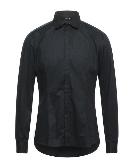 Camicia di Daniele Alessandrini in Black da Uomo