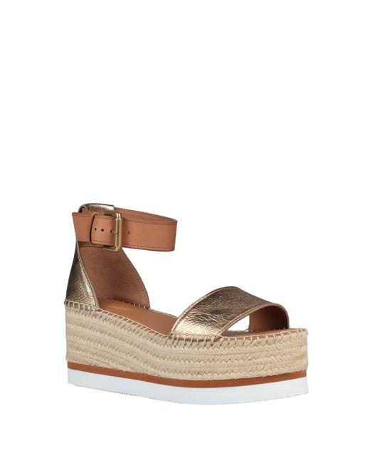 Sandales See By Chloé en coloris Metallic