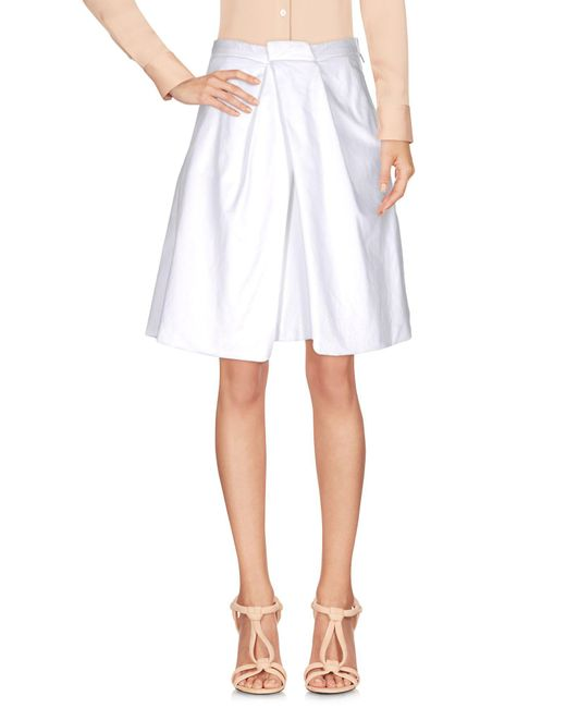 DSquared² White Knee Length Skirt