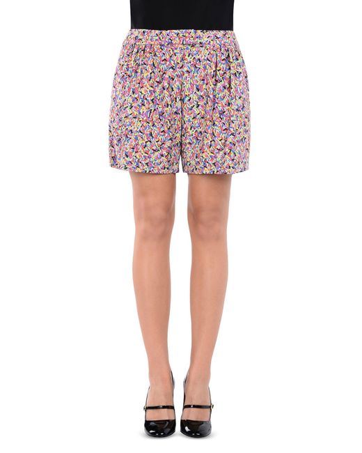 Boutique Moschino - Purple Shorts - Lyst