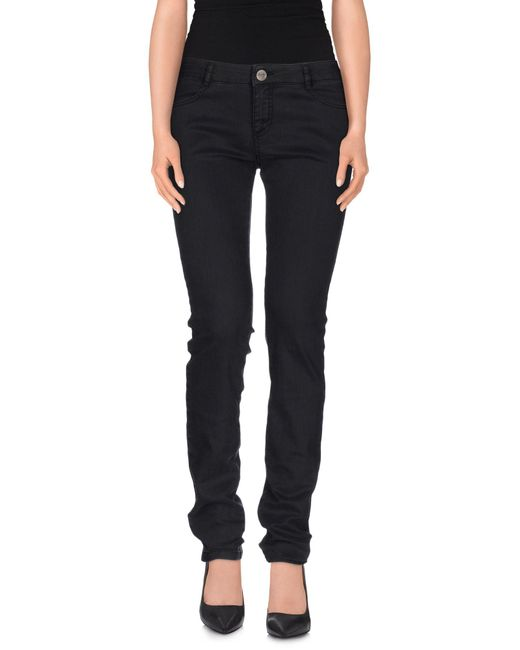 Pinko - Gray Denim Pants - Lyst