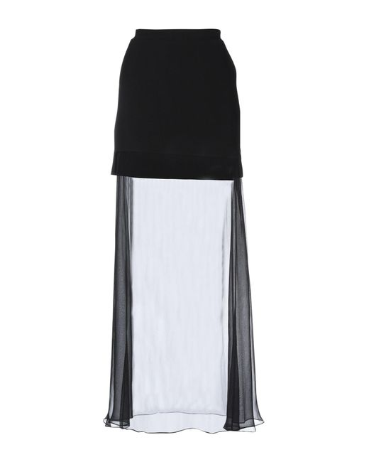 fcf8ba3554 Givenchy - Black Long Skirt - Lyst ...