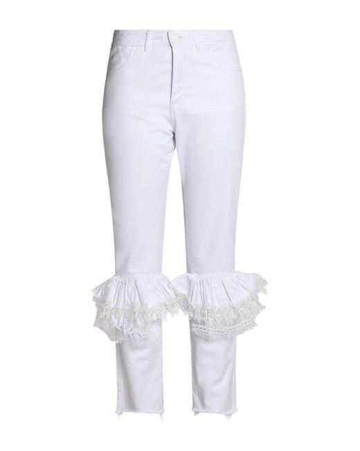 Pantalon en jean Preen By Thornton Bregazzi en coloris White