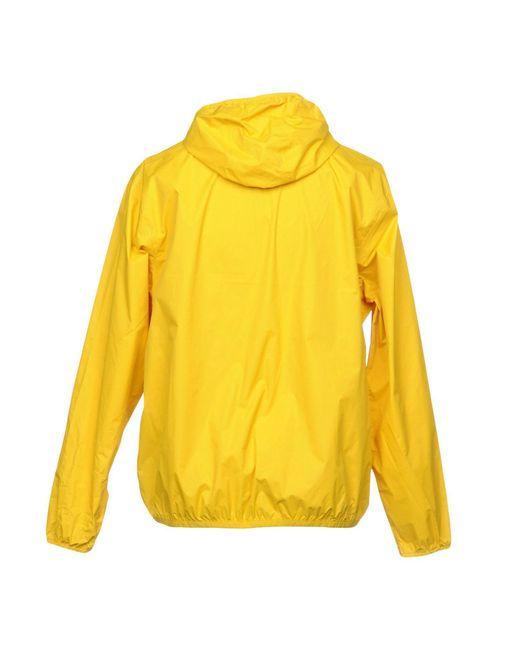 Giubbotto di K-Way in Yellow da Uomo