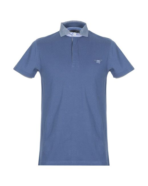 Polo Henry Cotton's de hombre de color Blue