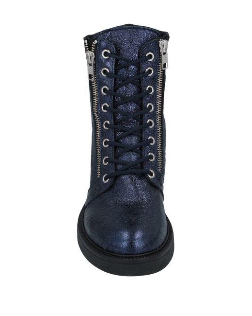 Loretta Pettinari Blue Ankle Boots