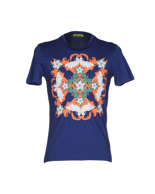 Versace Jeans - Blue T-shirts for Men - Lyst
