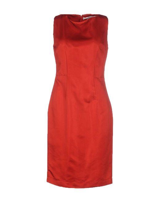 Balmain - Red Knee-length Dress - Lyst