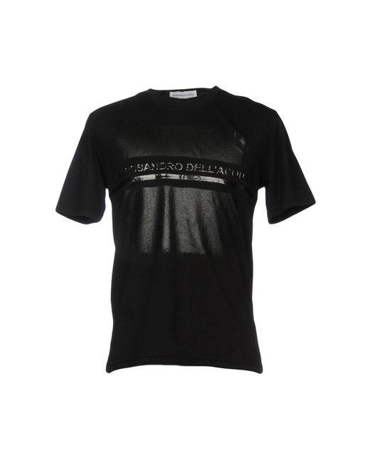 Alessandro Dell'acqua - Black T-shirts for Men - Lyst