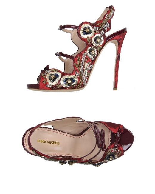 DSquared² | Red Sandals | Lyst