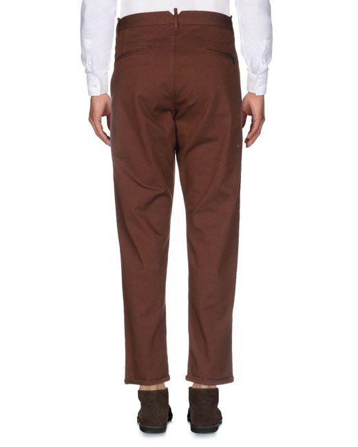 Pantalone di Officina 36 in Brown da Uomo