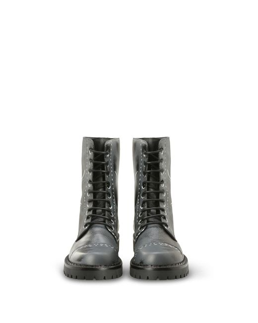 Moschino - Gray Ankle Boots - Lyst