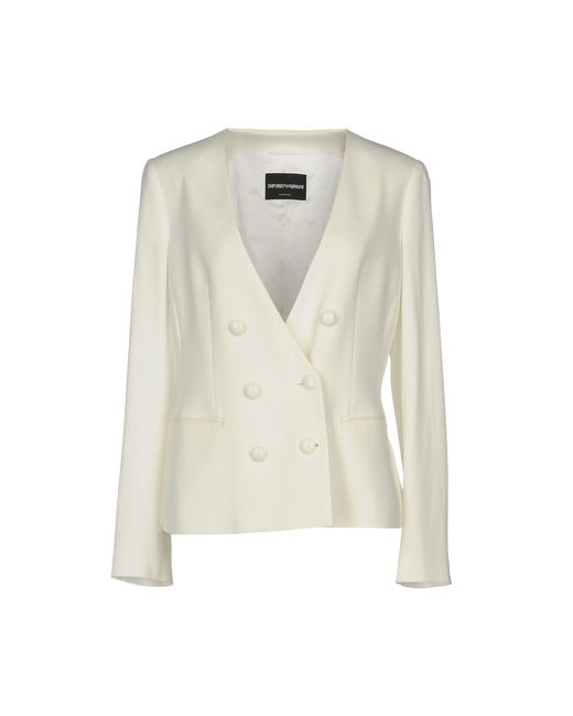 Emporio Armani White Suit Jacket