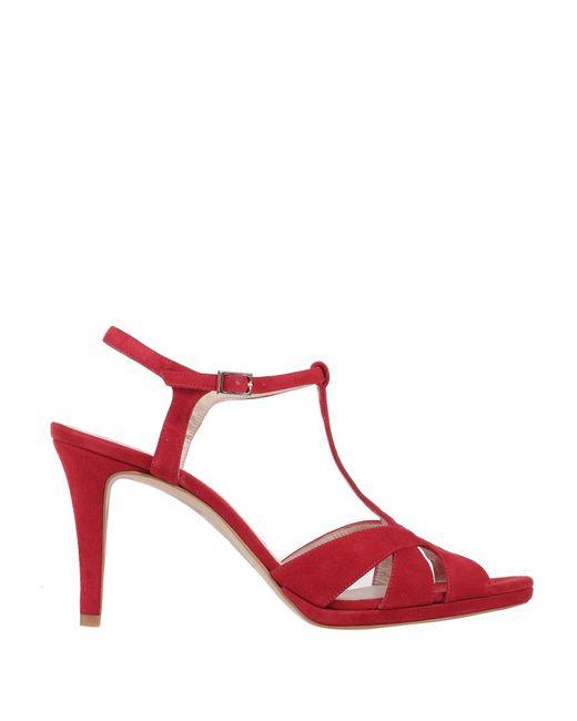 Lodi Sandalias de mujer de color rojo