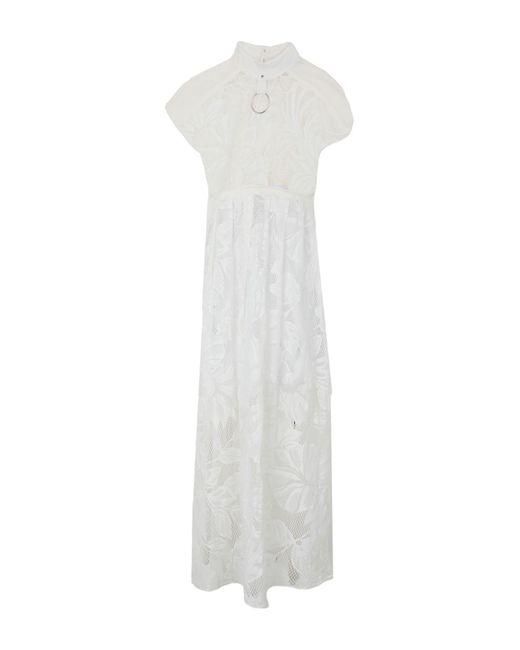 Aglini Vestido largo de mujer de color blanco