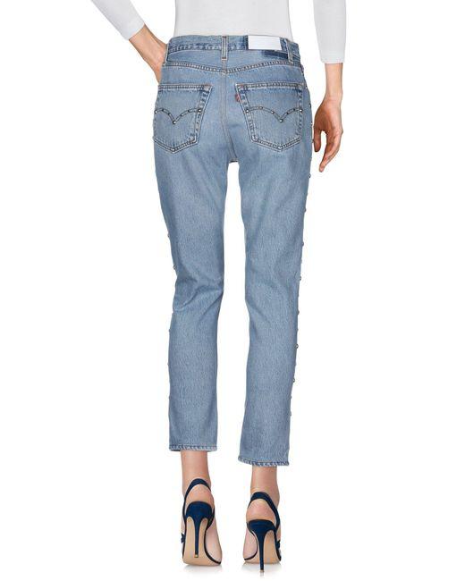 Pantalon en jean RE/DONE with LEVI'S en coloris Blue