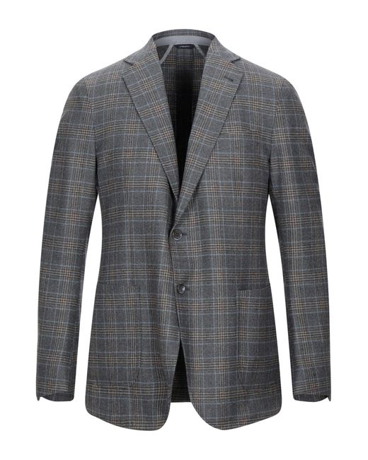 Tombolini Gray Suit Jacket for men