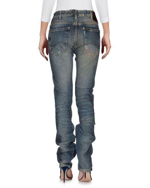 Lee Jeans Pantalon en jean femme de coloris bleu