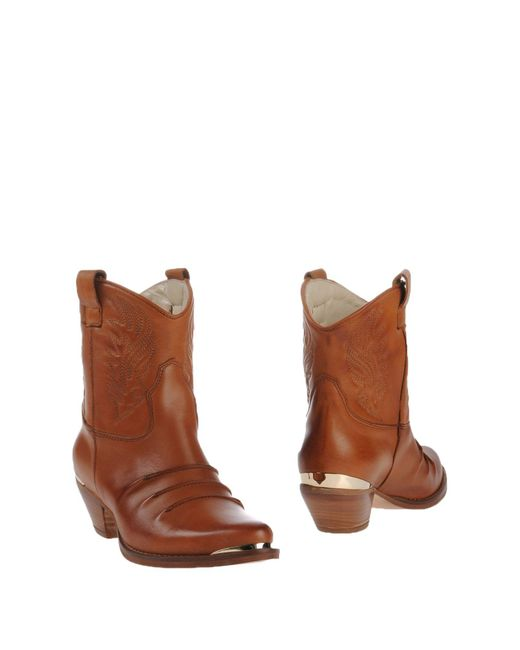 Ovye' By Cristina Lucchi - Brown Ankle Boots - Lyst