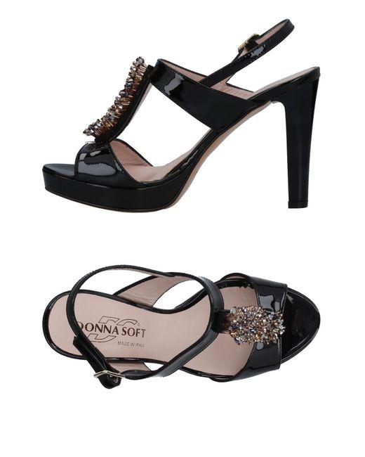 Donna Soft | Black Sandals | Lyst