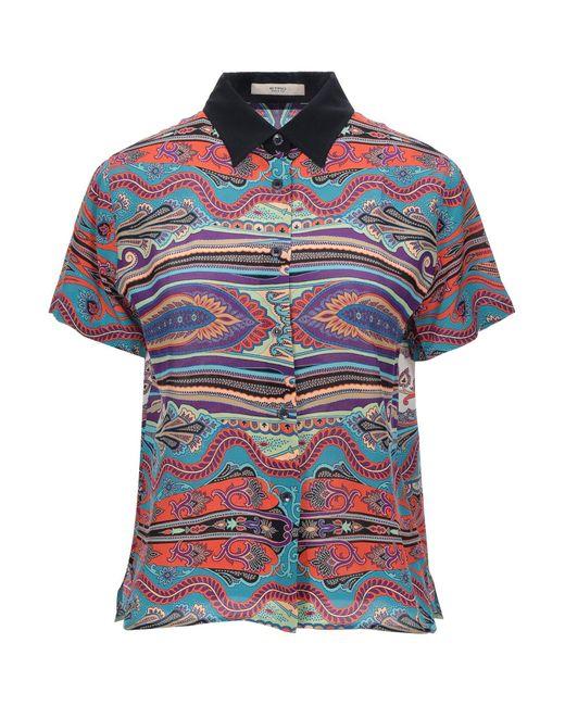 Etro Camisa de mujer de color azul tFAMK