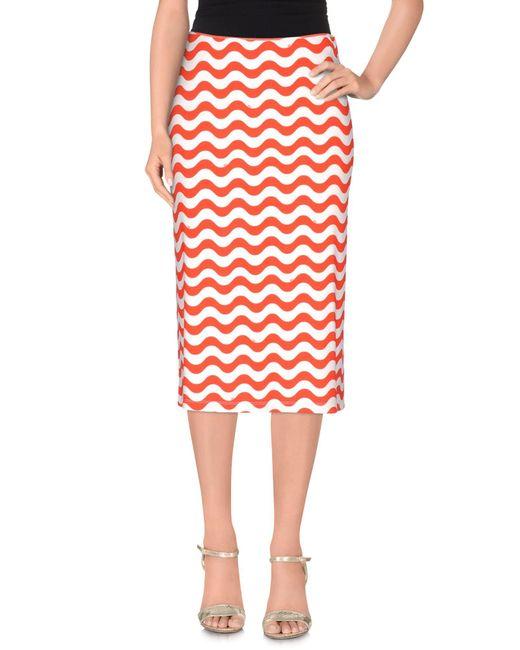 Au Jour Le Jour Red 3/4 Length Skirt
