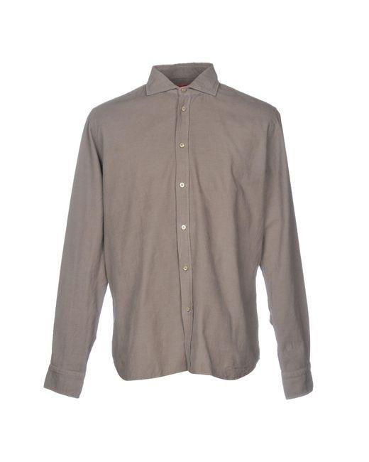 Altea - Gray Shirt for Men - Lyst
