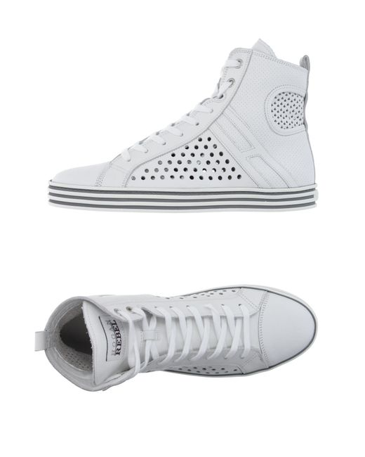 Hogan Rebel - White High-tops & Sneakers - Lyst