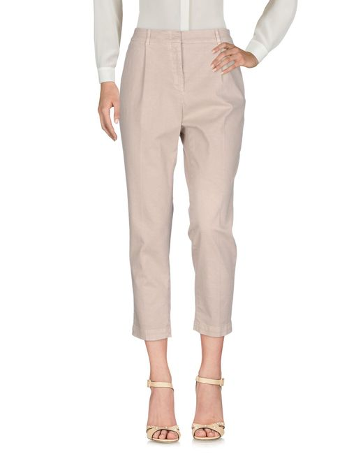 Peserico - Natural Casual Trouser - Lyst