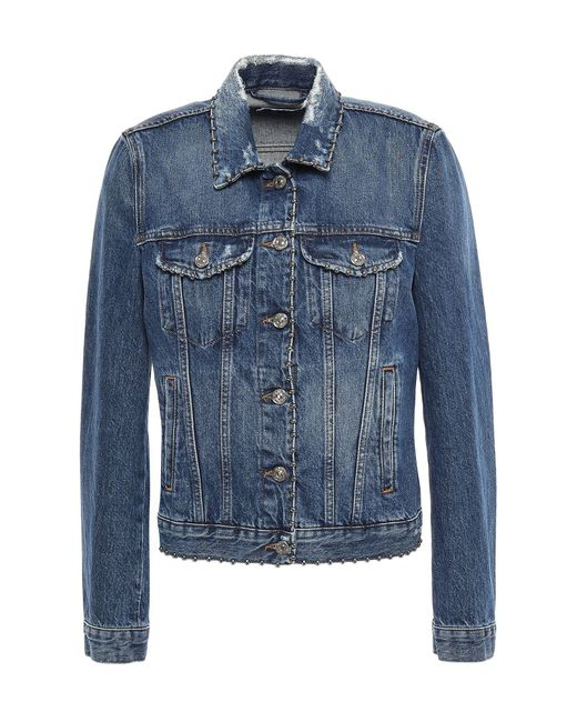 7 For All Mankind Blue Denim Outerwear