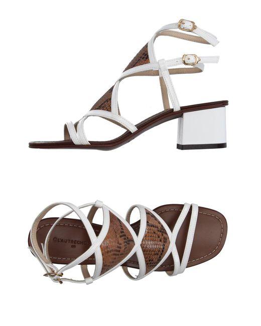 L'Autre Chose | White Sandals | Lyst