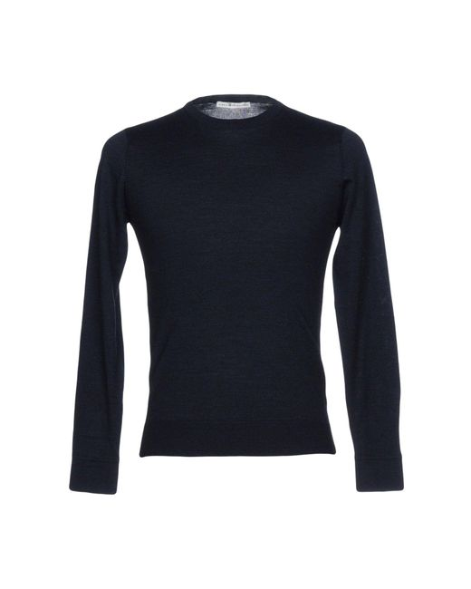 Grey Daniele Alessandrini Blue Sweater for men