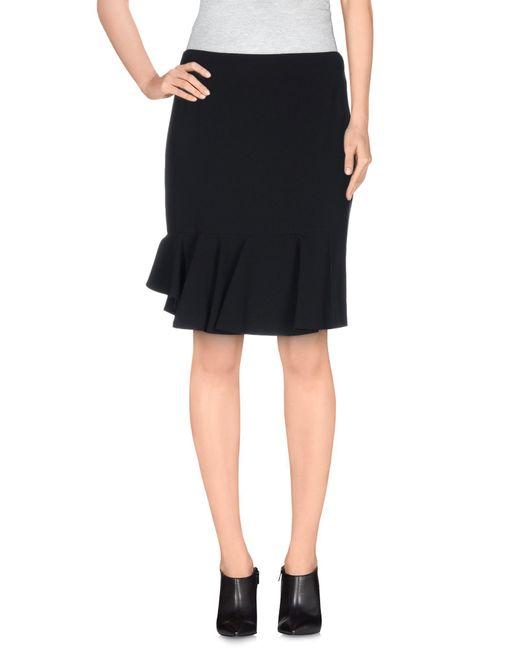 Viktor & Rolf - Black Knee Length Skirt - Lyst
