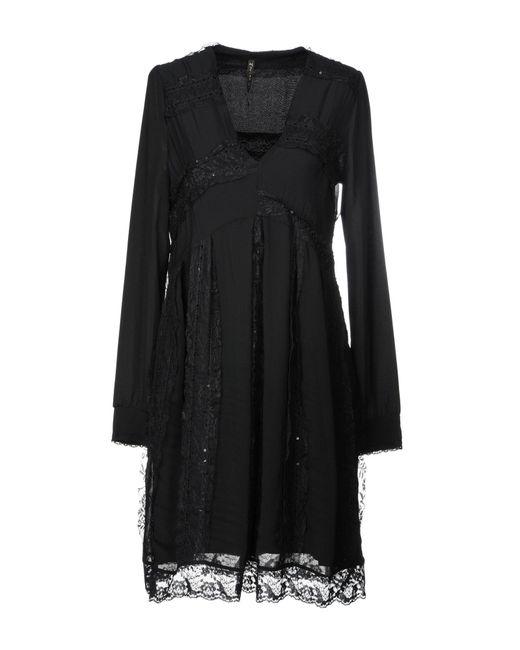 Manila Grace Black Short Dress