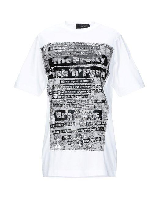 DSquared² Camiseta de mujer de color blanco pFmLT
