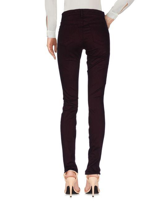 J Brand Pantalon femme de coloris violet
