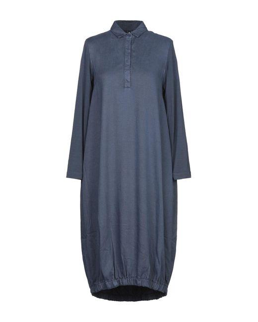 European Culture Blue Knee-length Dress