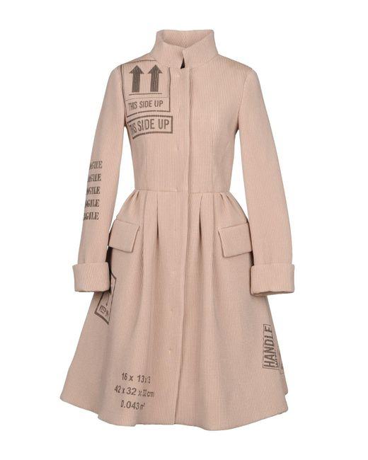 Moschino - Pink Overcoat - Lyst